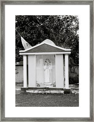 Mother Teresa In Cochin Framed Print by Shaun Higson