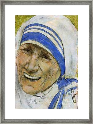 Mother Teresa Framed Print by P J Lewis
