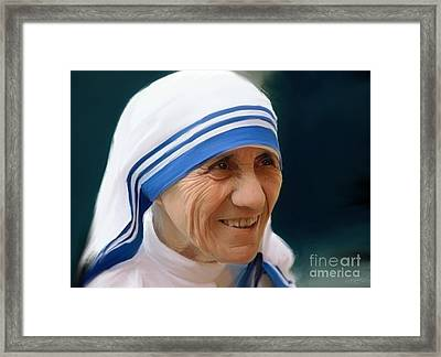 Mother Teresa Framed Print by Paul Tagliamonte