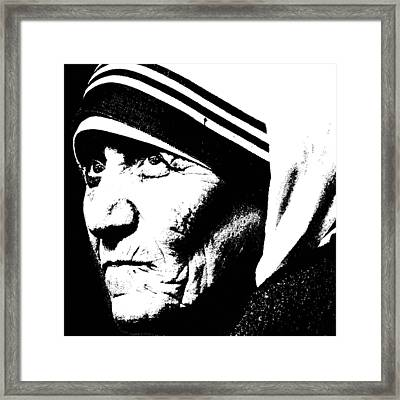 Mother Teresa Framed Print by Penny Ovenden