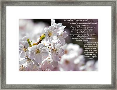 Mother Teresa Said Framed Print