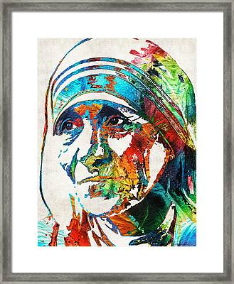 Mother Teresa Tribute By Sharon Cummings Framed Print
