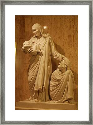 Mother Theresa Statue Framed Print by Philip Ralley