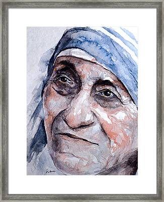 Mother Theresa Watercolor Framed Print