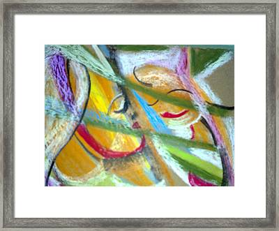 Mother With Daughter Framed Print