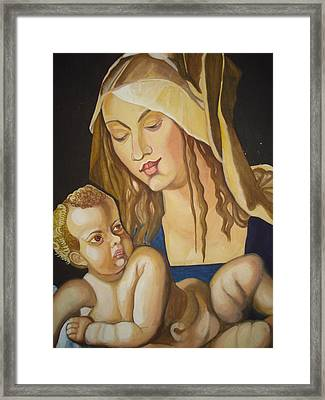 Mother With Her Child Framed Print