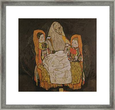 Mother With Two Children, 1915-17  Framed Print by Egon Schiele