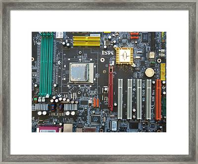 Motherboard Cityscape Framed Print