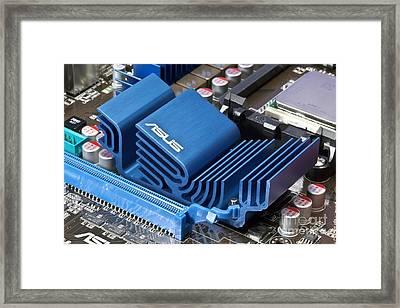 Motherboard Heat Sink Framed Print