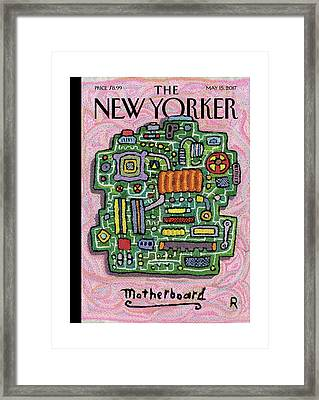 Motherboard Framed Print by Roz Chast