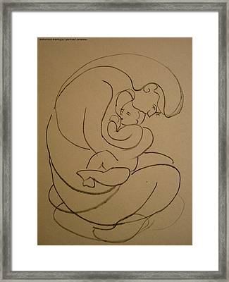 Motherhood Framed Print by Laila Awad Jamaleldin