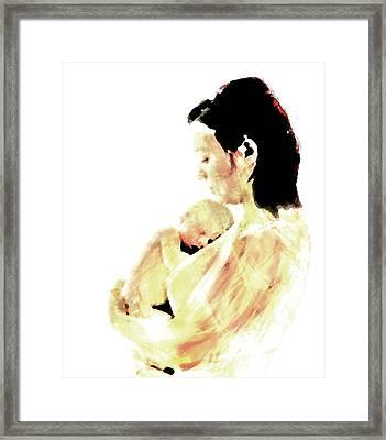 Motherhood Framed Print by Lisa McKinney