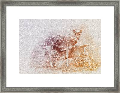 Motherhood Framed Print by Manjot Singh Sachdeva