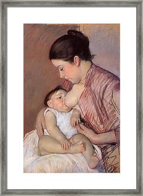 Motherhood Framed Print by Marry Cassatt