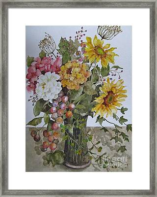 Mother's Day Bouquet Framed Print by Karen Olson