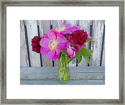 Mother's Day Bouquet Framed Print by Nick  Boren