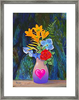 Mothers Day Bouquet Framed Print by Teresa Ascone