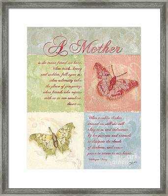 Mother's Day Butterfly Card Framed Print by Debbie DeWitt