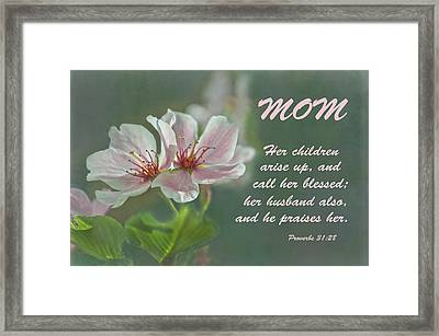 Mothers Day Card For Mom Framed Print by Sandi OReilly