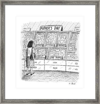 Mother's Day Cards Framed Print by Roz Chast
