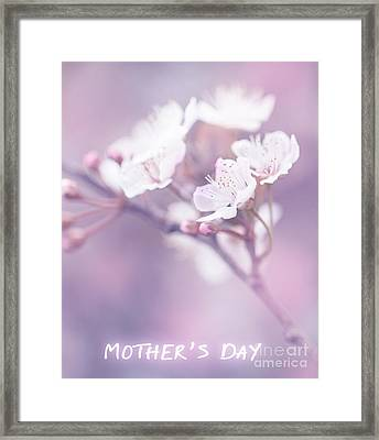 Mother's Day Greeting Card Framed Print