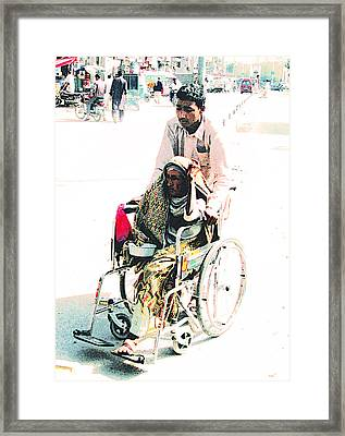 Mother's Day - Pakistan Framed Print by Lenore Senior and Bobby Dar