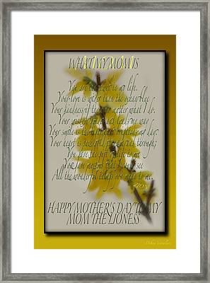 Mothers Day Plaques Framed Print by Debra     Vatalaro