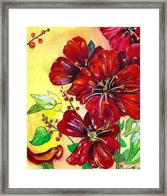 Mother's Day Red Velvet Framed Print by M E Wood