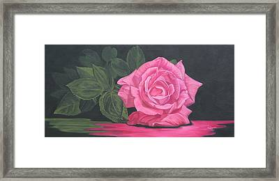 Framed Print featuring the painting Mothers Day Rose by Wendy Shoults