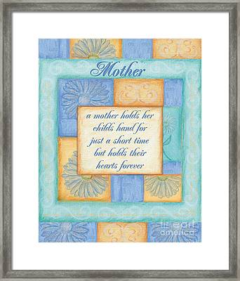 Mother's Day Spa Card Framed Print by Debbie DeWitt