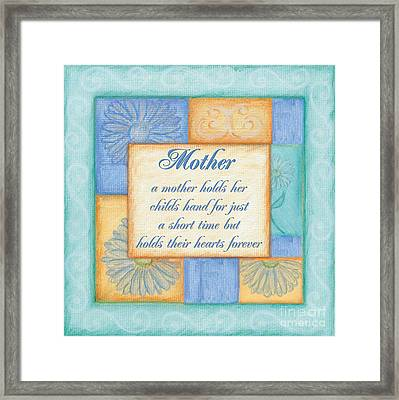 Mother's Day Spa Framed Print by Debbie DeWitt