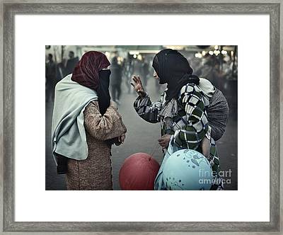 Mothers Having A Ball Framed Print by Michel Verhoef