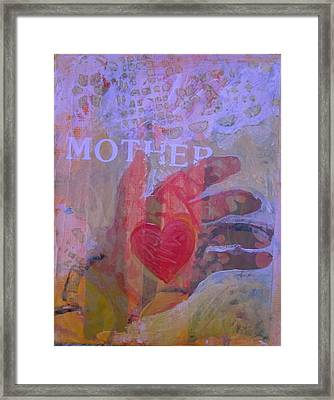 Framed Print featuring the painting Mother's Heart by Tilly Strauss