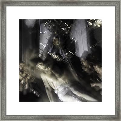 Mother's Last Embracement Framed Print by Alexandre Russevitch