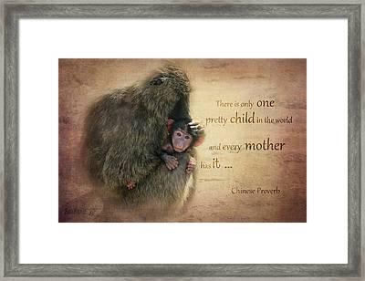 Mother's Love Framed Print by Barbara Orenya