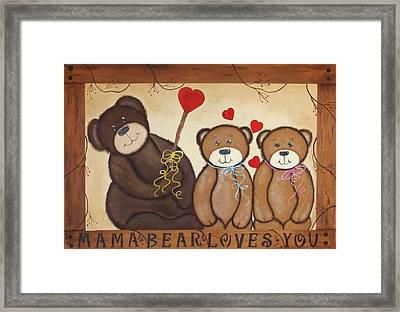 Mothers Love Framed Print by Cindy Micklos