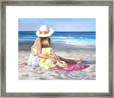 Mother's Love Framed Print by Laurie Hein