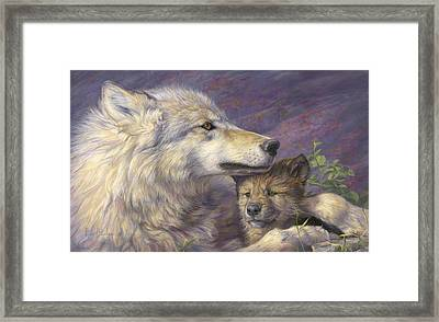 Mother's Love Framed Print by Lucie Bilodeau