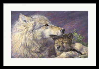 Animals Love Framed Prints