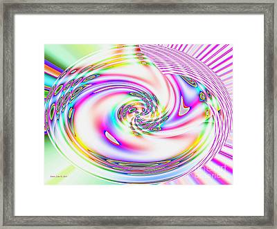 Framed Print featuring the digital art Mother's Love Modern Abstract Art by Annie Zeno
