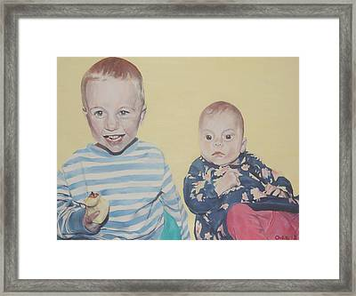 Framed Print featuring the painting Mothers Pride by Cherise Foster