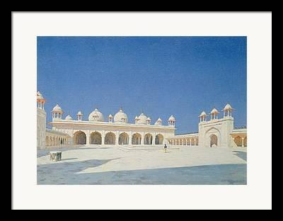 Moti Masjid Framed Prints