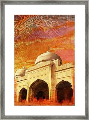 Moti Masjid Framed Print