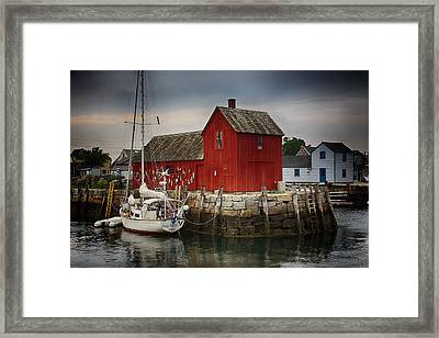 Motif 1 - Rockport Harbor Framed Print