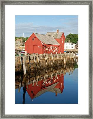 Framed Print featuring the photograph Motif 1 With Reflection by Richard Bryce and Family