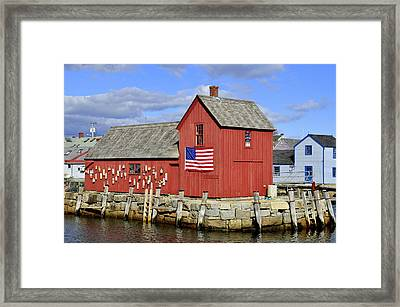 Framed Print featuring the photograph Motif In Rockport by Caroline Stella