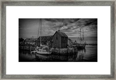 Motif Number 1 - Black And White Framed Print by Stephen Stookey