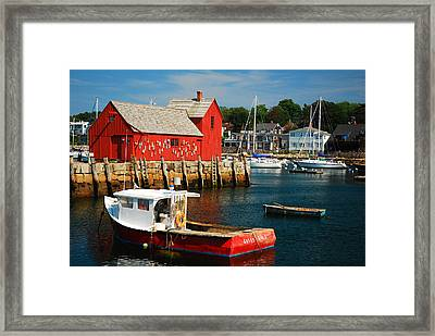 Motiff 1 In Rockport Framed Print by James Kirkikis