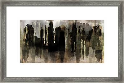 Framed Print featuring the digital art Motion Abstract by Danica Radman