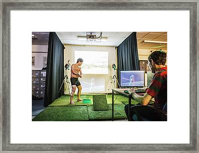 Motion Analysis Of A Golfer Framed Print by Gustoimages